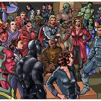 Numeroso Grupo de Superhéroes