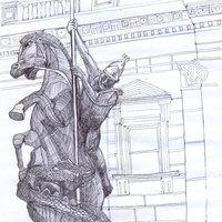 estatua a lapicero