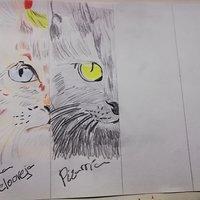 los gatos de WineXD marcapáginas gigante parte 6 Pizarrín