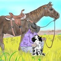 caballo y perro