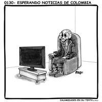 Viñeta 0130- Esperando noticias de Colombia