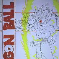 Gohan VS Cell  (entintado)