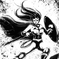 My work - comic characters (black and white)