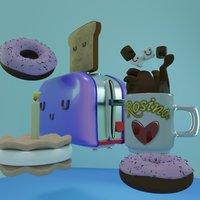 Desayuno en 3D