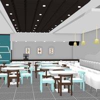 Plano de una churrería 3D