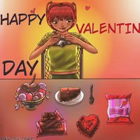 Dibujo en conmemoración al san Valentín