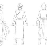 Diseño de personajes para un corto animado estilo animé