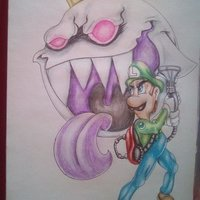 Luigi y king Boo