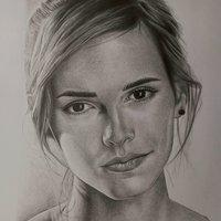 Retrato de emma watson a lapiz