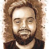 Retrato de Ibai Llanos - Pintado con ColaCao