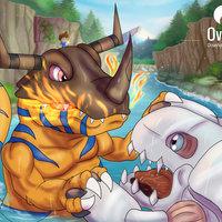 Digimon: Greymon vs Coelamon