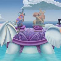 Elefante guerrero en el mar. Wip