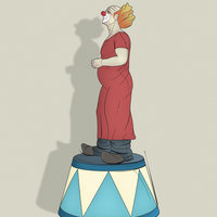 Ilustración. Clown.