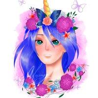 Unicorn girl - Digital art