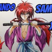 Como dibujar a Rurouni Kenshin / Samurai X a color