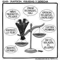 Viñeta 0143- Justicia, equidad y derecha