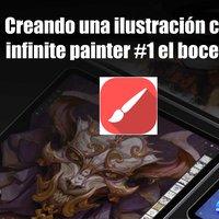 Ilustración paso a paso con Infinite Painter #1 el boceto