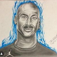 Dibujo a lápiz y marcador,  Michael Jordan