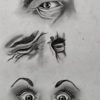 Dibujo a Lápiz, Ojos.