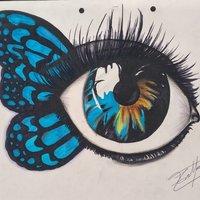 Dibujo a Color y marcador, ojo.