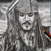 Dibujo a Lápiz, Jack Sparrow.