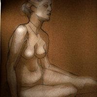 estudio, modelo real, desnudo 13