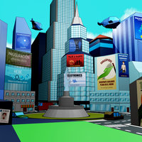 Ciudad low poly 3D