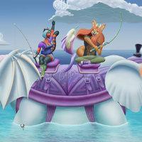 Elefante guerrero en el mar. Final