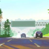 Paseando en carretera(homeroyjosedibujant)