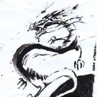 dragon a acuarela