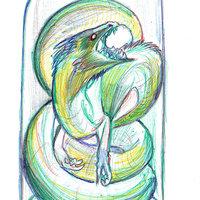 dragon a lapices de colores
