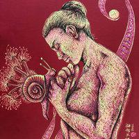 Mujer y caracol