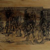 comunidad medieval,,,,sombras y cafe,,,