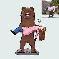 Estatua de oso