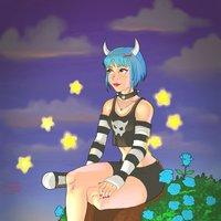 Fanart @yazumi13 La chica de las estrellas