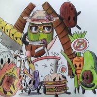 Festival de comida (Dibujo)
