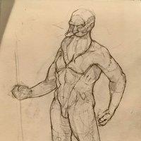 Bocetos de memoria para práctica de anatomía.