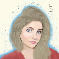 Sarah Fisher Portrait Drawing Oz Galeano