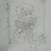 Ángel la niña de las flores