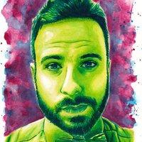 Retrato de BarbeQ pintado con Colorante Alimentario