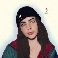 Jade Picon Portrait drawing by Oz Galeano