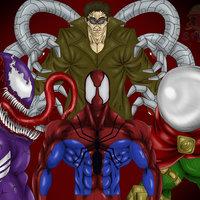 Spiderman, Venom, Octopus and Mysterio