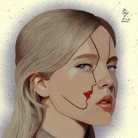 Portrait drawing by Oz Galeano