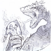 dragon a lapicero
