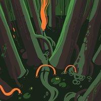 Ilustración pantano /Dibujo en Clip studio.