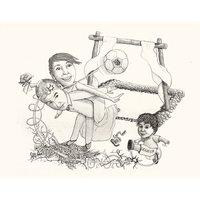 Caricatura para la boda de Eva y Felipe.