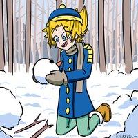 Aron en la nieve