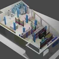 Tienda de telas en 3D