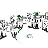 Vistas a un pueblo árabe