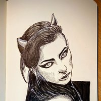 Goth face